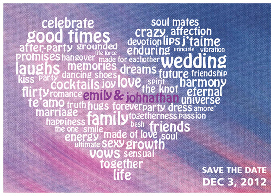 save the date cards - Fun with words by Shaz