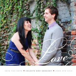 Lovely Love Save the Date Cards