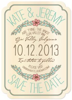 rustic elegance Save the Date Cards