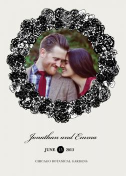 Unity Wreath Save the Date Cards