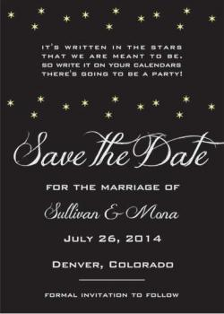 Starry Love Save the Date Cards