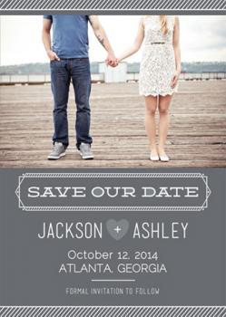 Lines of Love Save the Date Cards