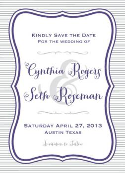 Rustic Violet Whimsy Save the Date Cards