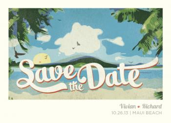 Maui Wowie Save the Date Cards