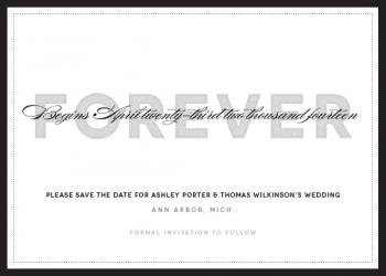 Journey to Forever Save the Date Cards