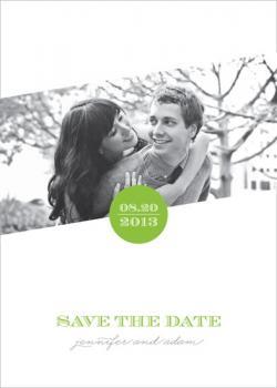 Green Dot Save the Date Cards