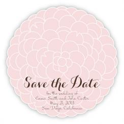 Hydrangea Save the Date Cards
