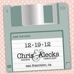 Save The Disk Save the Date Cards