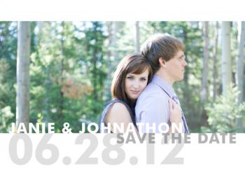 On the Edge Save the Date Cards