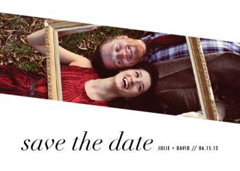 Lovely Modern Save the Date Cards