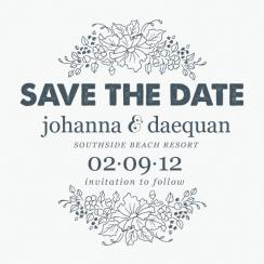 you & me Save the Date Cards