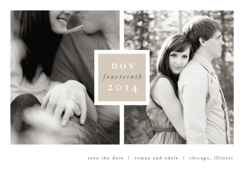save the date cards - Frame up by Stacey Meacham