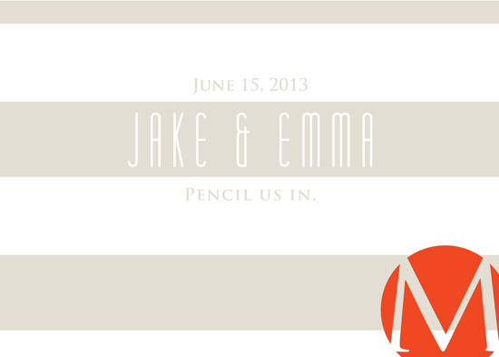 save the date cards - Modern Stripe by Ashley Ottinger