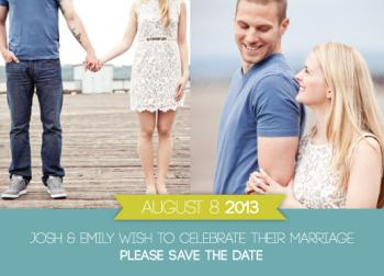 Fun banner save the date