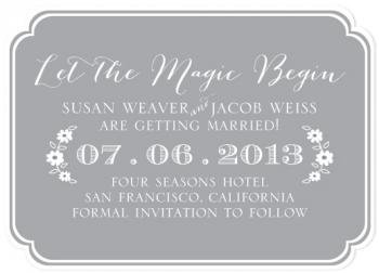 Magic Save the Date Cards