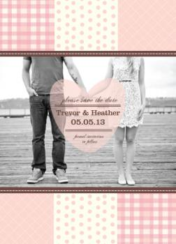 Country Quilt Save the Date Cards