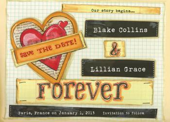 Office Paper Gone Wild Save the Date Cards