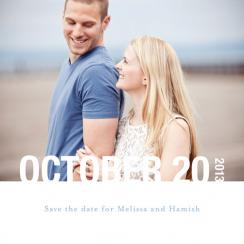 Sweet Simplicity Save the Date Cards