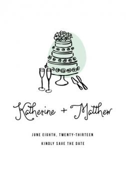Pass the Cake Save the Date Cards