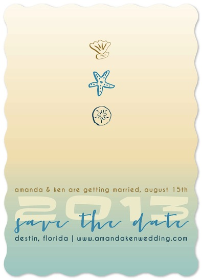 save the date cards - Destination Ombre by Goldenberry Paper