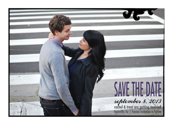 save the date cards - Damask Frame by Goldenberry Paper