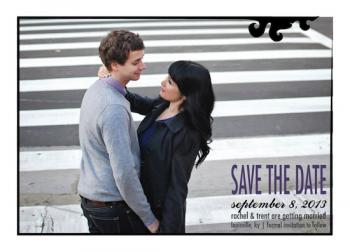 Damask Frame Save the Date Cards