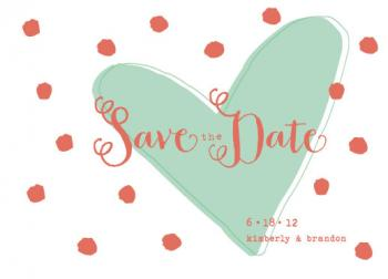 Double Mints Save the Date Cards