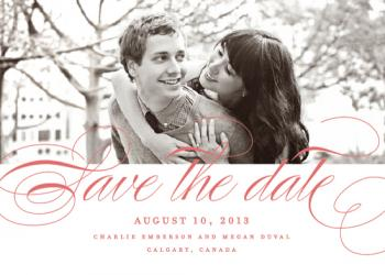 Clean Script Save the Date Cards