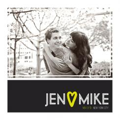 Simple Pinstripe Save the Date Cards