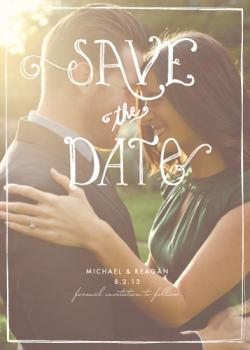 Fun Type Save the Date Cards