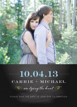 Colorful and classic chalkboard Save the Date Cards