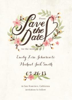 Spring Time Save the Date Cards