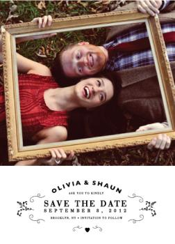 Classic Type Save the Date Cards