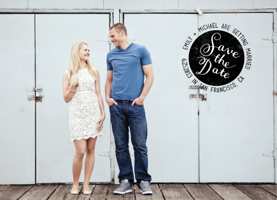 save the date cards - Stamped by Four Wet Feet Studio