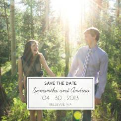 Perfectly Square Big Picture Save the Date Cards