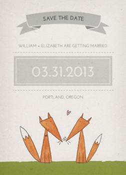 Foxes in Love Save the Date Cards