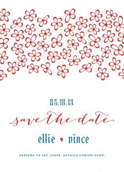 Textura and Lace Save the Date Cards