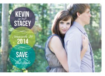 Simply Elated Save the Date Cards