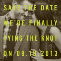 At Long Last Save the Date Cards