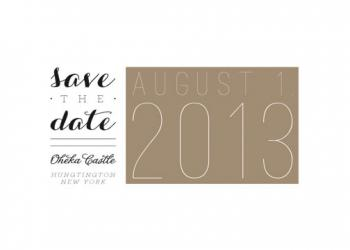 Elegant Type Save the Date Cards