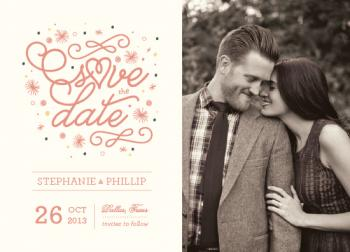 sparks fly Save the Date Cards