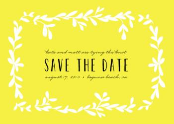 tropical romance Save the Date Cards