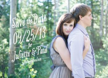 Well Aligned Save the Date Cards