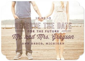 The Future Mr. and Mrs. Save the Date Cards