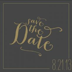 Golden Era Save the Date Cards