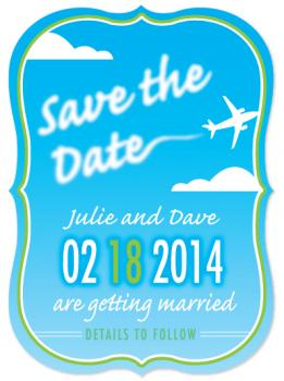 sky writing Save the Date Cards