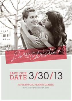 Overlayed with Joy Save the Date Cards