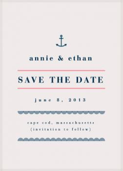 New England Sea-Side Save the Date Cards