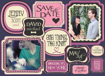 Save the Date Wedding Art Save the Date Cards