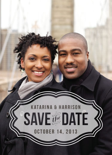save the date cards - love is a blur